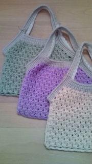 春色編みバッグ♪